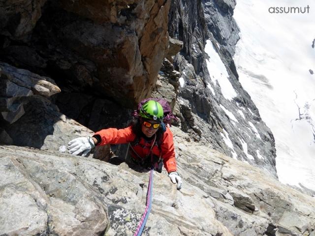 Llegando al Glaciar colgante Carré